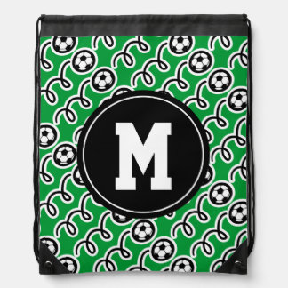 Bolso de encargo de la mochila del lazo del fútbol
