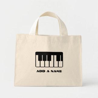 Bolso de encargo de la música del piano bolsa tela pequeña