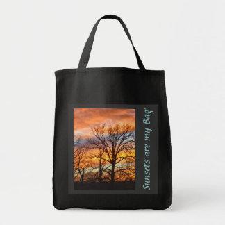 Bolso de encargo de la puesta del sol 1 del invier bolsa tela para la compra
