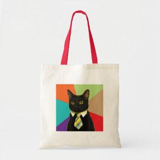 Bolso de encargo del gato del negocio bolsa tela barata
