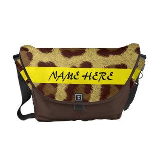 Bolso de encargo del mensajero del leopardo bolsa de mensajeria