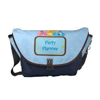 Bolso de encargo del planificador del fiesta con l bolsas de mensajería