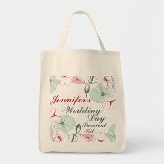 Bolso de equipo floral abstracto de supervivencia bolsa tela para la compra