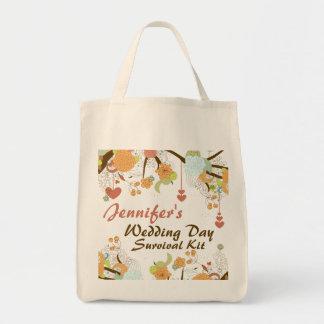 Bolso de equipo floral de supervivencia del día de bolsa tela para la compra