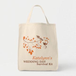 Bolso de equipo romántico anaranjado de bolsa tela para la compra