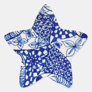 Bolso de gancho agarrador del diseño del azul y de calcomanía cuadrada