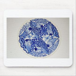 Bolso de gancho agarrador del diseño del azul y de tapete de raton