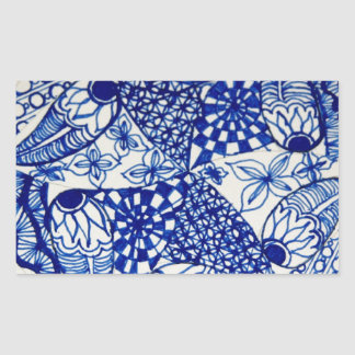 Bolso de gancho agarrador del diseño del azul y pegatina rectangular