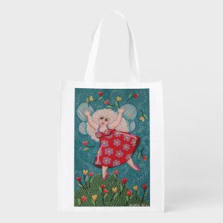 Bolso de hadas de la primavera linda y colorida de bolsas para la compra