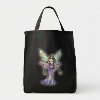 Bolso de hadas que brilla intensamente hermoso to bolsas lienzo