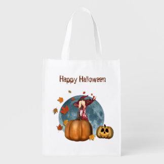 Bolso de Halloween de la bruja del otoño Bolsas Para La Compra