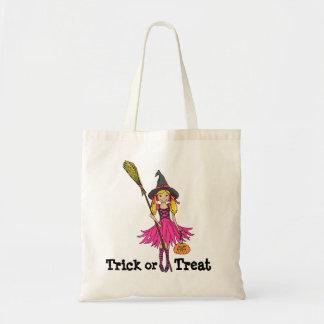 Bolso de Halloween de los chicas del truco o de la Bolsas