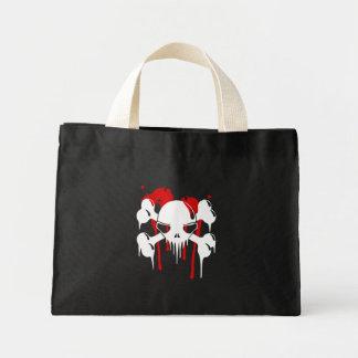 Bolso de Halloween del cráneo y de los huesos Bolsa Tela Pequeña