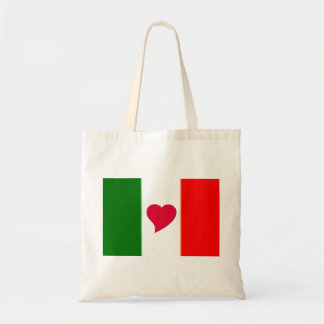 Bolso de Italia del amor del corazón Bolsa Tela Barata