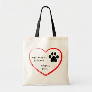 Bolso de la adopción del mascota bolsa tela barata