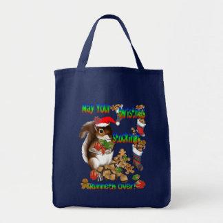 Bolso de la ardilla del navidad bolsas