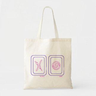 Bolso de la balanza y del oscilación en púrpura y  bolsa