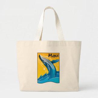 Bolso de la ballena de Maui Bolsa Tela Grande