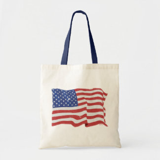 Bolso de la bandera americana del vintage bolsa tela barata
