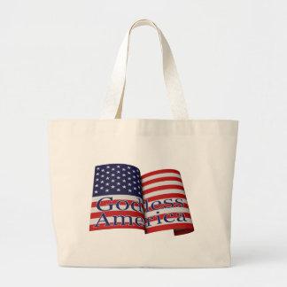 """Bolso de la bandera de """"América atea"""" Bolsa Tela Grande"""