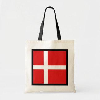 Bolso de la bandera de Dinamarca Bolsa De Mano