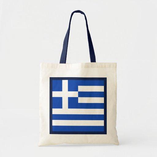 Bolso de la bandera de Grecia Bolsas De Mano