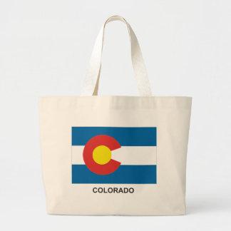 Bolso de la bandera del estado de COLORADO Bolsa Tela Grande