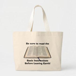 Bolso de la biblia bolsa tela grande