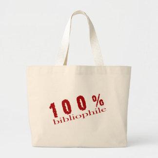 Bolso de la biblioteca del bibliófilo del 100 por bolsa tela grande