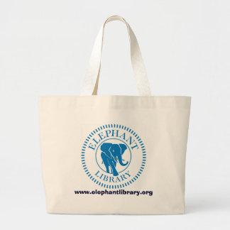 Bolso de la biblioteca del elefante bolsa