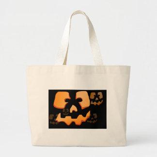 Bolso de la calabaza de Halloween Bolsa Tela Grande