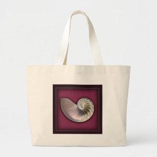 Bolso de la cáscara del nautilus bolsa tela grande