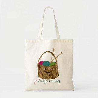 Bolso de la cesta del calcetero feliz personalizad bolsa de mano