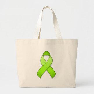 Bolso de la cinta de la conciencia de la verde bolsa tela grande