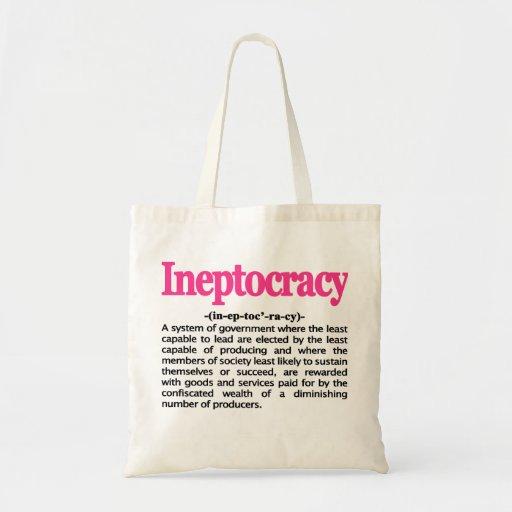 Bolso de la definición de Ineptocracy Bolsa De Mano