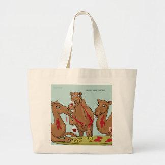 Bolso de la degustación de vinos del camello bolsas lienzo