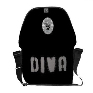 Bolso de la diva (versión imparable de la diva) bolsas messenger