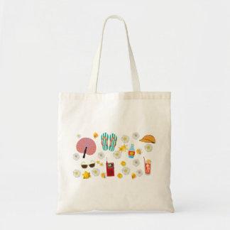 Bolso de la diversión del tiempo de verano bolsas lienzo