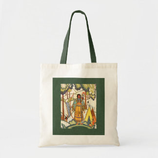 Bolso de la doncella del nativo americano bolsa lienzo