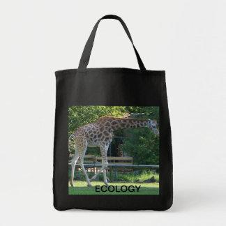 bolso de la ecología de la jirafa bolsa de mano