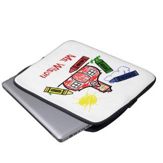 Bolso de la electrónica de la escuela y de los cre mangas computadora