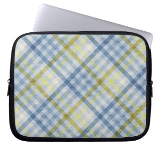 Bolso de la electrónica de la tela escocesa del az manga portátil
