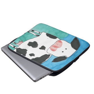 Bolso de la electrónica de la vaca funda portátil