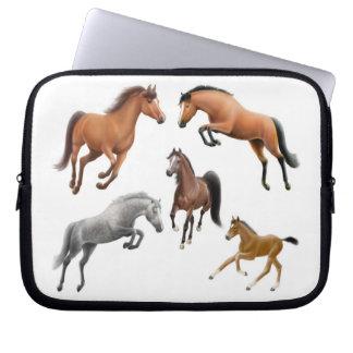 Bolso de la electrónica de los amantes del caballo funda ordendadores