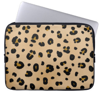 Bolso de la electrónica del leopardo manga computadora