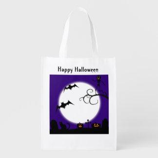 Bolso de la escena de Halloween Bolsas Para La Compra
