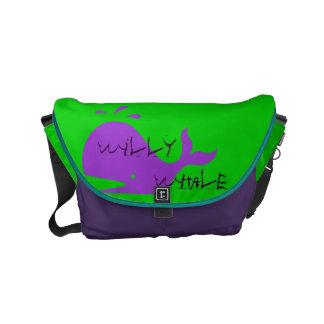 bolso de la escuela del niño de la ballena de bolsa de mensajeria