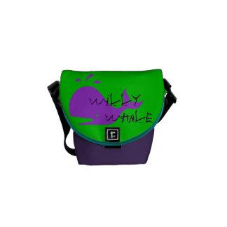 bolso de la escuela del niño de la ballena   de bolsas de mensajeria