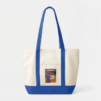 bolso de la etiqueta del hotel del sanremo bolsa tela impulso