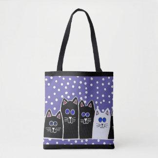 Bolso de la familia del gatito bolsa de tela